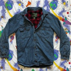 90s Flannel Lined Denim Shirt